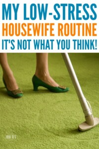 My Housewife Routine - I am often asked what my daily routine is like and the truth is that I keep things low-stress. #dailyroutine #housewifehowtos #housewife #housewiferoutine