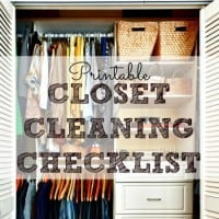 Printable closet cleaning checklist from HousewifeHowTos.com