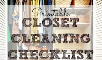 Printable Closet Cleaning Checklist