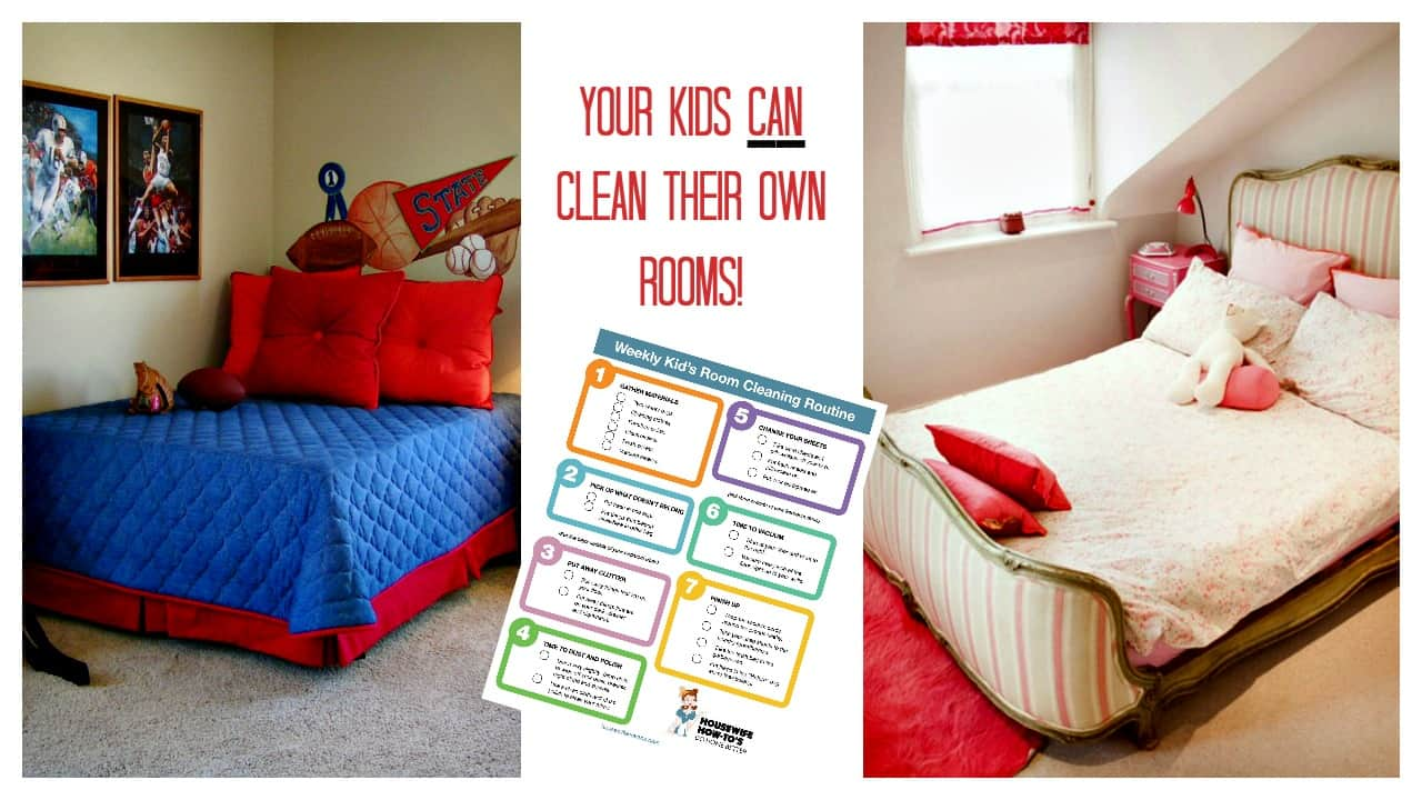 Cleaning checklist for kids 39 rooms free printable for Clean bedroom pictures
