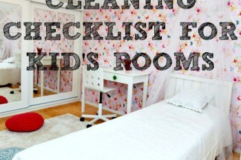 Cleaning Checklist for Your Child's Bedroom