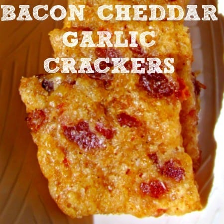 Football Foods - Bacon Cheddar Garlic Crackers
