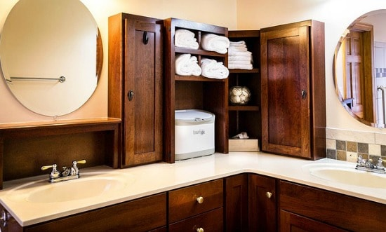 Bathroom Spring Cleaning Checklist - Empty the shelves and cabinets
