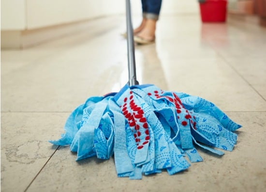 Bathroom Spring Cleaning Checklist - Mop the floor