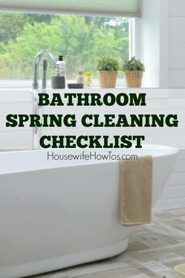 Bathroom Spring Cleaning Checklist - Wow this gets my bathroom cleaner than it has ever been!