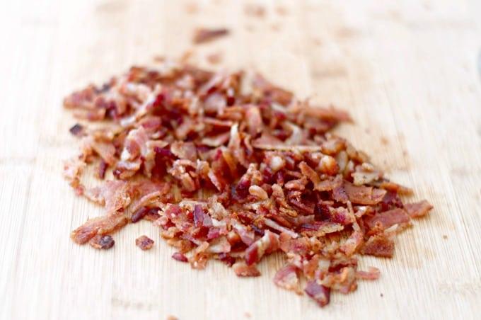 Chopped bacon