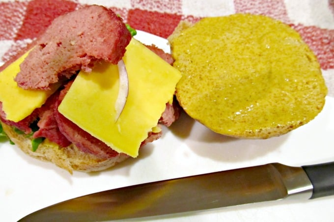 Homemade Bologna Sandwich