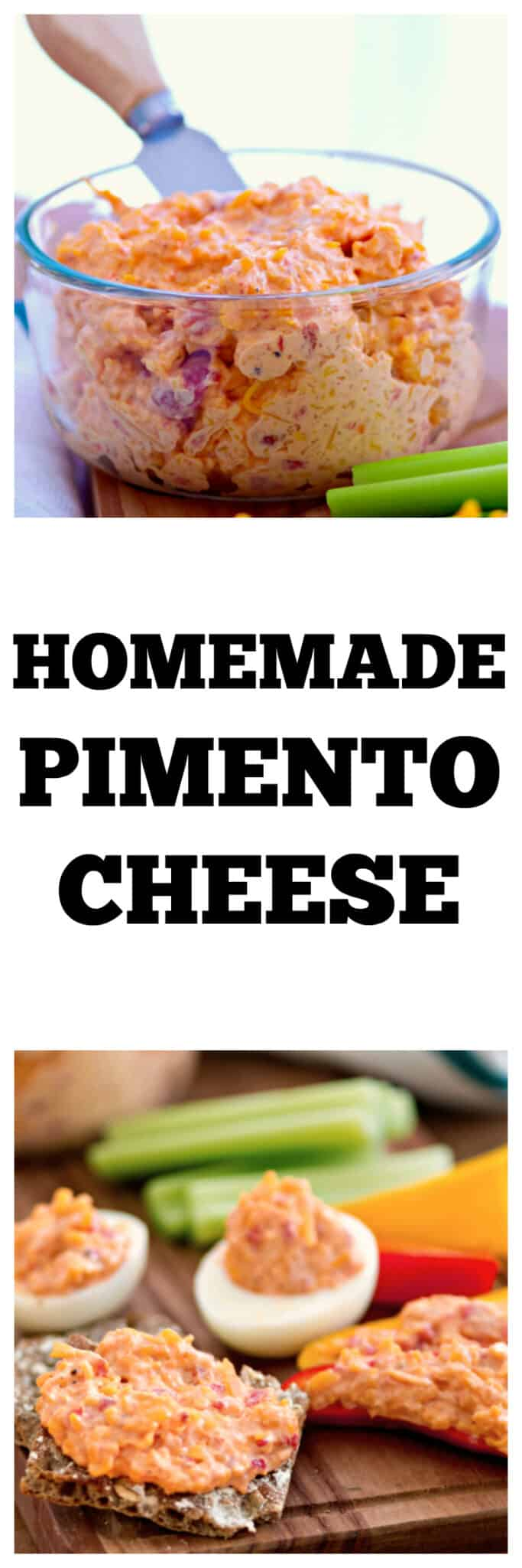 Homemade Pimento Cheese - Make this easy appetizer in minutes. It's perfect football food or as a low-carb, keto snack. #pimentocheese #cheese #appetizer #snack #footballfood #dip #lowcarb #keto