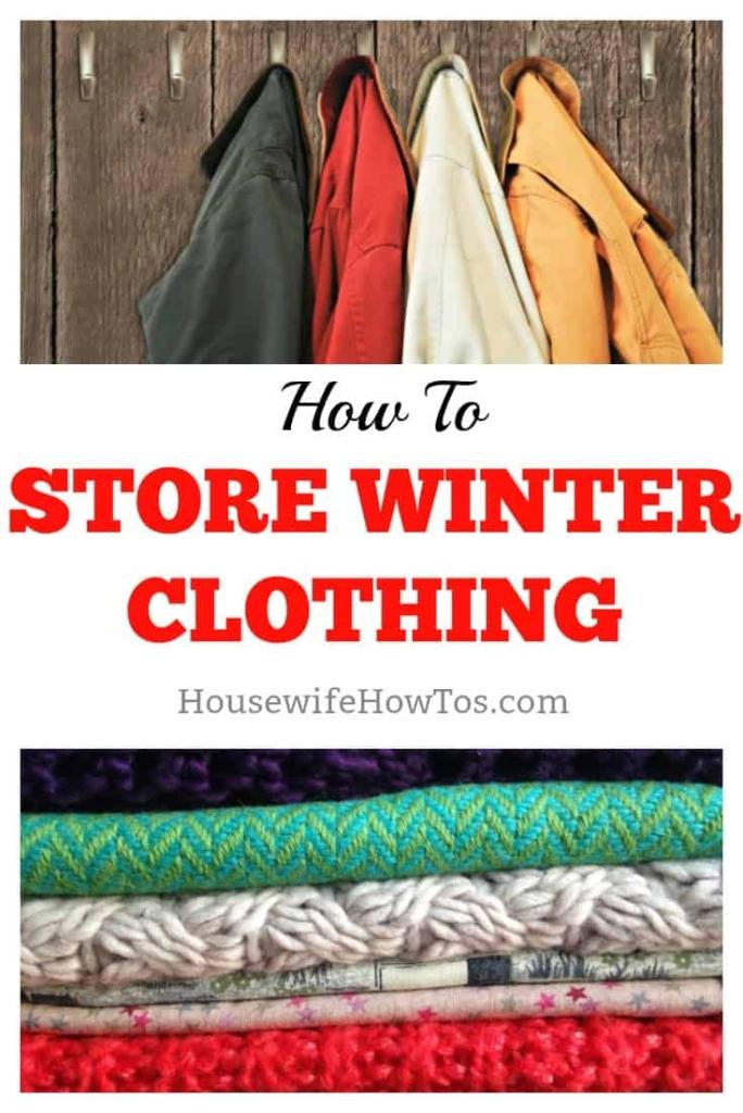 How to Store Winter Clothing #clothingstorage #storagesolutions #organizing #homeorganization #laundry