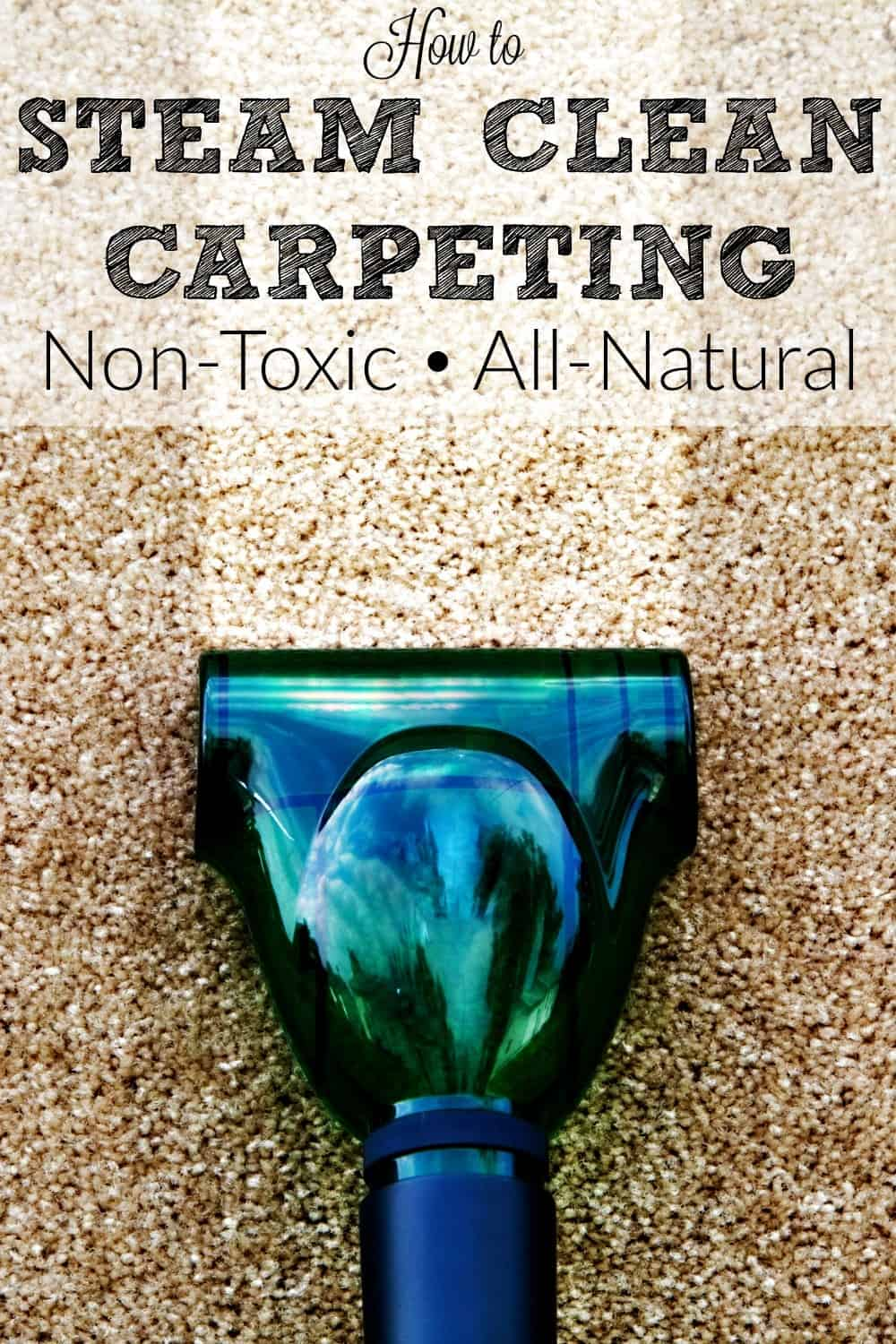 How to steam clean carpeting Pin from HousewifeHowTos.com