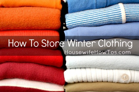 How To Store Winter Clothing from HousewifeHowTos.com