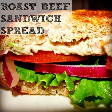 Football foods - Roast Beef Sandwich Spread