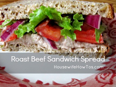 Roast Beef Sandwich Spread recipe from HousewifeHowTos.com