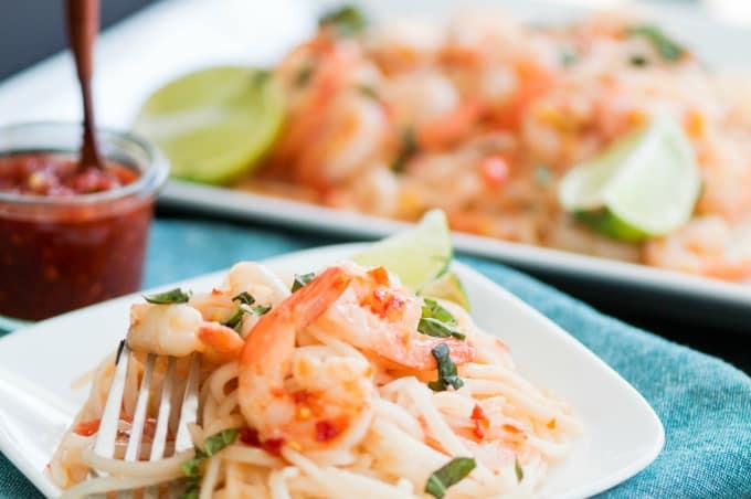 Shrimp Pad Thai - The hardest part is boiling noodles