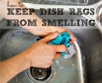 how to keep dishrags from smelling from HousewifeHowTos.com