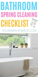 Bathroom Spring Cleaning Checklist - These checklists are all so thorough! #springcleaning #deepcleaning #cleaningchecklist #cleaning