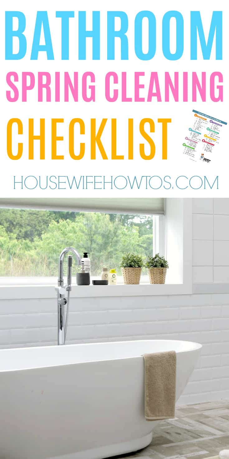 Bathroom Spring Cleaning Checklist - Wow, this gets my bathroom cleaner than ever! #springcleaning #deepcleaning #cleaningchecklist #cleaning