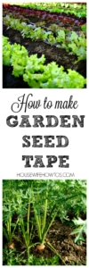How to Make Seed Tape - Get straight rows with proper spacing using this simple method to make your own seed tape. #gardening #garden #planting #savingmoney #growyourown
