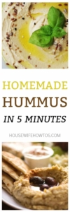 Homemade Hummus Recipe - Amazing flavor and it only takes 5 minutes #hummus #dip #appetizer #snack #chickpeas #healthy #cleaneating #vegetarian #vegan #condiment