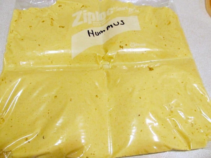 Homemade Hummus Recipe - Freeze extra in resealable plastic bags