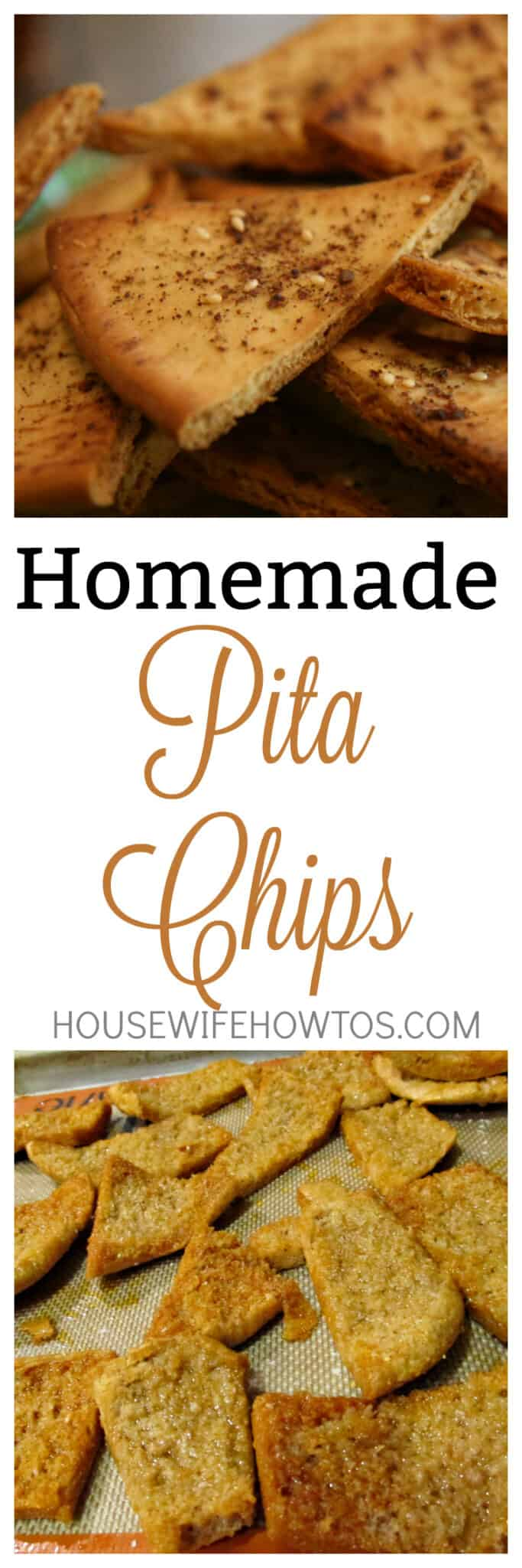 Homemade Pita Chips Recipe - You could be eating these in 15 minutes! #homemade #chips #snacks #pitabread #pitachips #appetizer