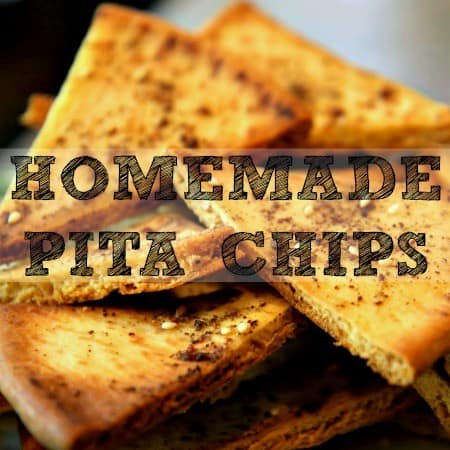 Football Foods - Homemade Pita Chips