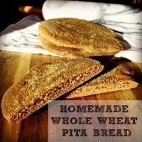 Homemade Whole Wheat Pita Bread Recipe