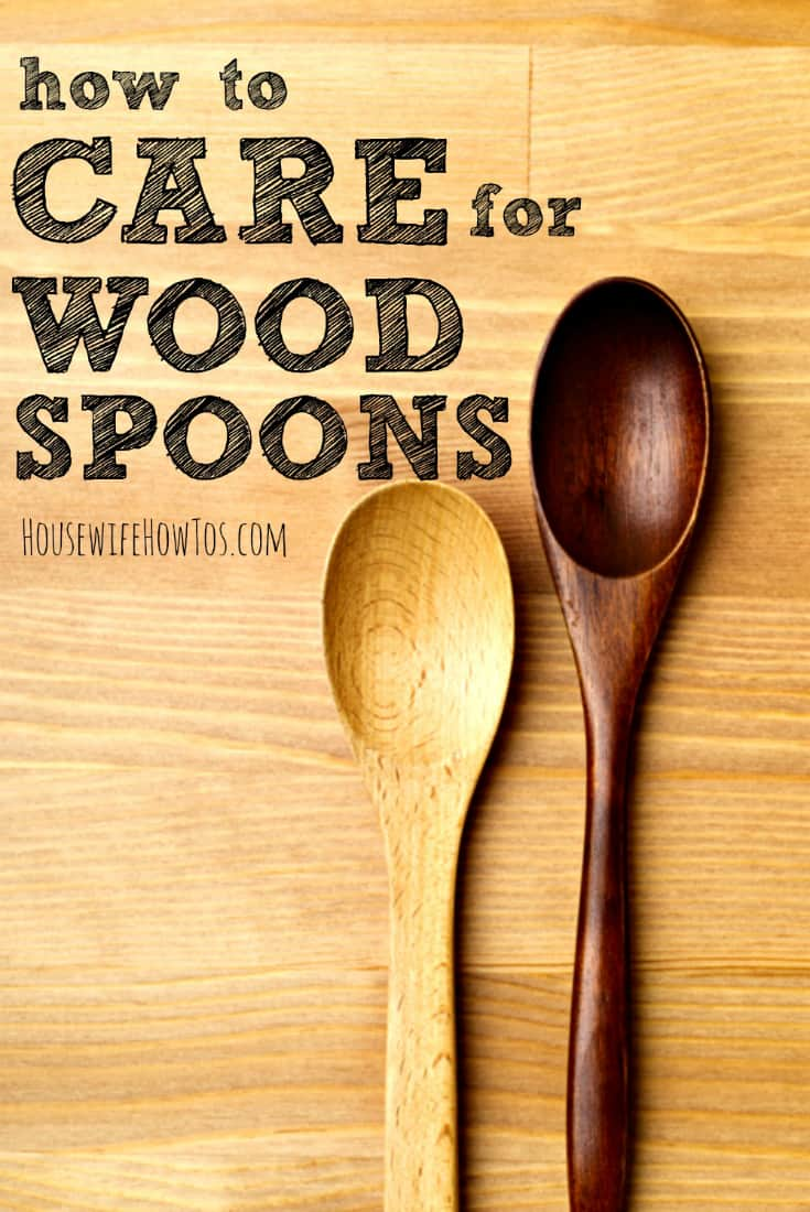How to Care for Wood Spoons - Keep them stain and odor-free and prevent cracks, too. #woodspoon #cleaning #cookingtips