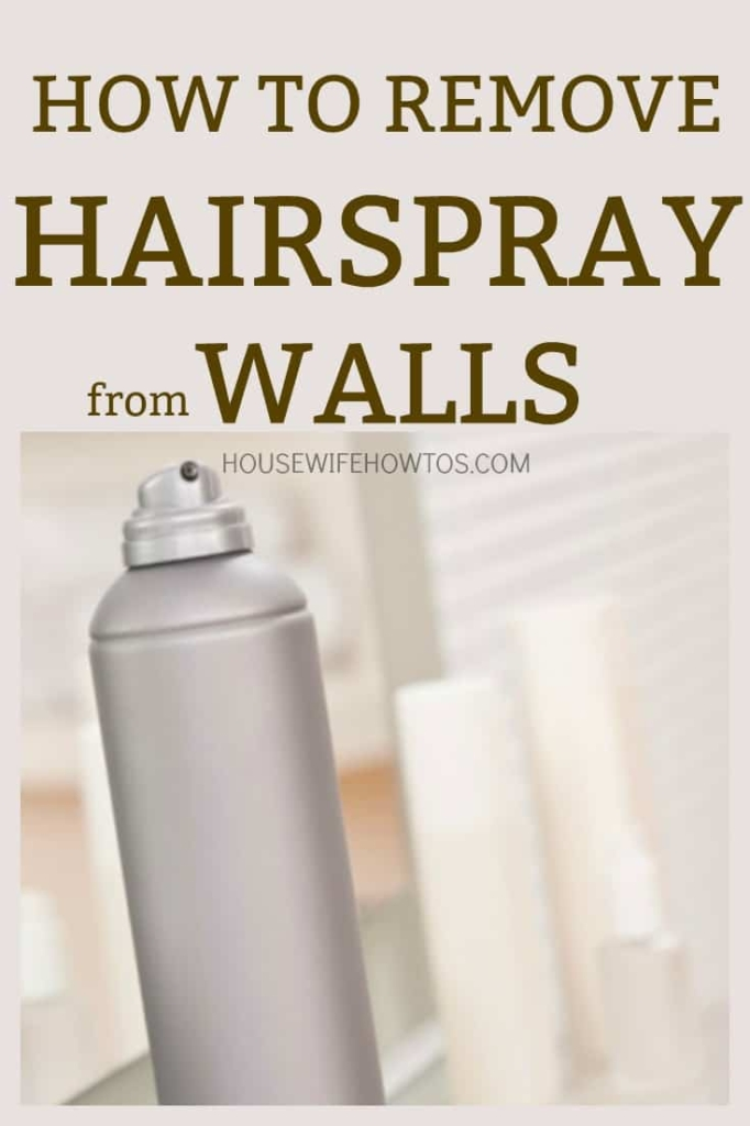 How to Remove Hairspray from Walls - Finally got those spots off of my bathroom walls! #cleaning #deepcleaning #springcleaning #bathroom #hairspray