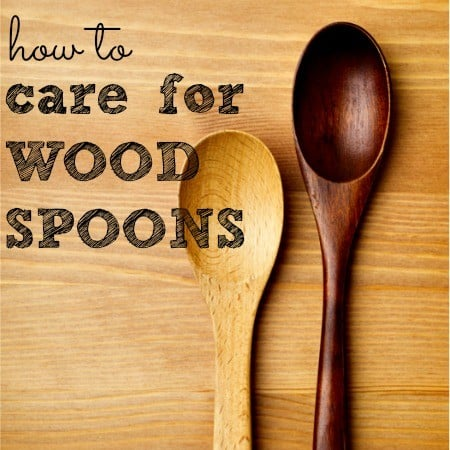 How to care for wood spoons from HousewifeHowTos.com