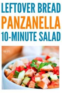 Panzanella Salad Recipe is a great way to use leftover or stale bread #salad #saladrecipe #panzanella #leftoverbread #breadheels #stalebread #italianfood #itallianflavor #nocookrecipe