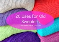 Uses for old sweaters from HousewifeHowTos.com