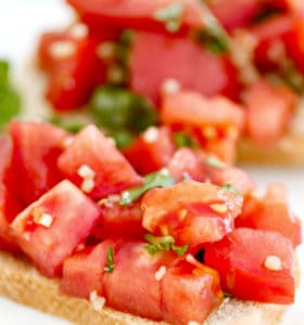 Bruschetta Recipe - Tomatoes are the star of the show