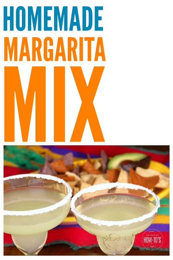 Margarita Mix fatto in casa - Questo ha un sapore fantastico, fresco ed è tutto naturale! #margarita #margaritamix #makeyourown #cocktail #beverage