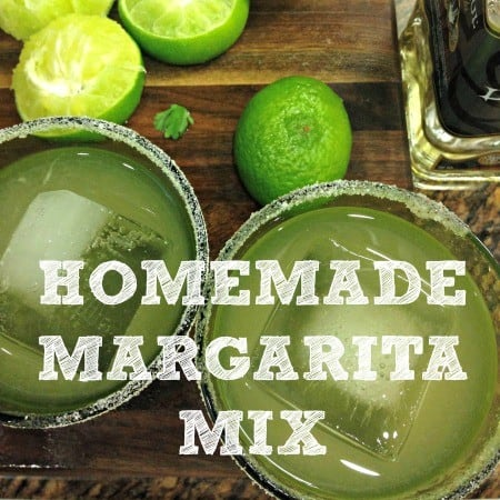 Homemade margarita mix recipe from HousewifeHowTos.com