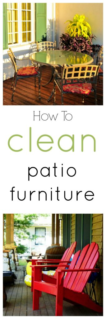How To Clean Patio Furniture Of All Kinds Wood Wicker