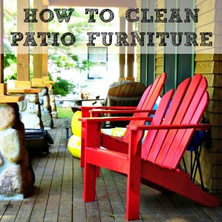 How to clean patio furniture from HousewifeHowTos.com