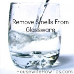 Remove Dishwasher Smells From Glass