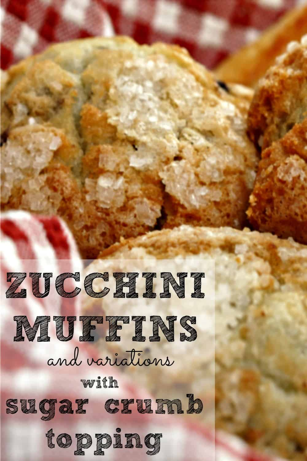 Zucchini Muffins with Sugar Crumb Topping recipe - Packed with zucchini, these are delicious muffins you can feel good about eating! #muffins #zucchini #breads #baking