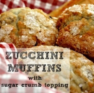 Zucchini Muffins With Sugar Crumb Topping