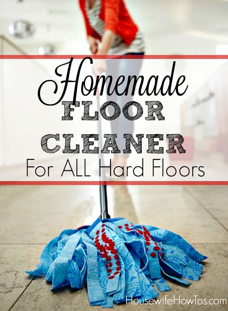 This homemade floor cleaner recipe leaves a spotless shine you'll love. You probably already have everything you need to make it, too!