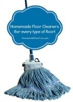 Homemade Floor Cleaner from HousewifeHowTos.com