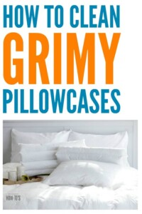 How to Clean Grimy Pillowcases - Get yellowed or smelly pillowcases clean again, and brighten your white ones, with these tips. #laundry #laundryhacks #stainremoval #stains #fabriccare #pillowcases #smells #odors