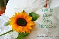 How to clean grimy pillowcases from HousewifeHowTos