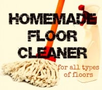 How to make homemade floor cleaner from HousewifeHowTos.com