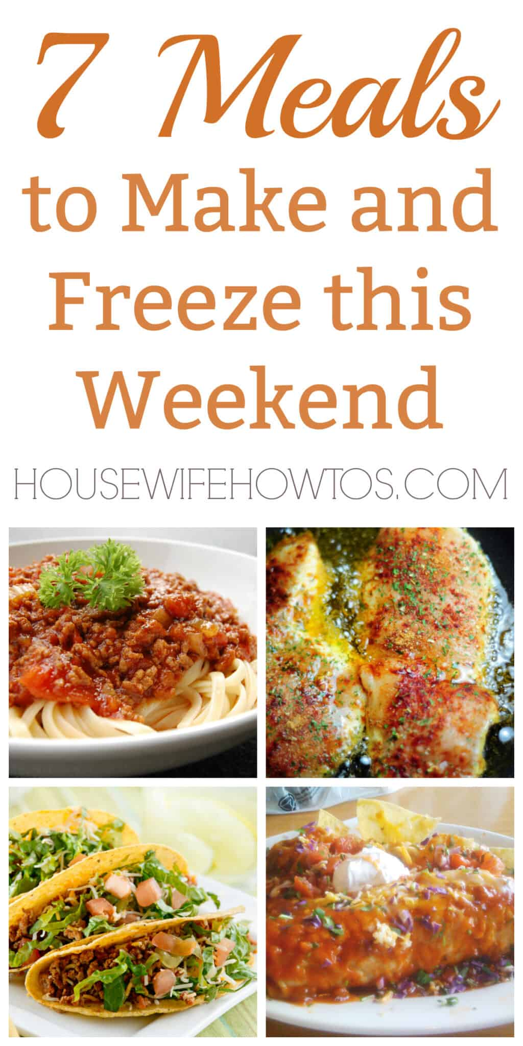 7 Meals to Make and Freeze this Weekend