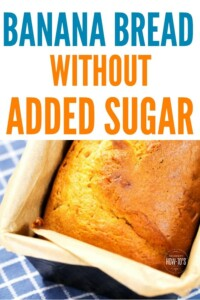 Banana Bread without Added Sugar - We're cutting out the refined stuff but no one noticed it isn't in this recipe! #bananabread #bread #banana #baking #bakingrecipe #dessert