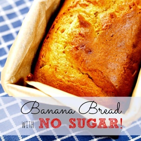Banana bread without sugar recipe from HousewifeHowTos.com