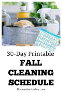 Fall Cleaning Schedule This 30-day plan guides you through deep-cleaning every room of your home without it taking over your life #cleaningroutine #cleaning #printable