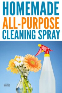Homemade All-Purpose Cleaner - Natural cleaner that powers through grime #homemadecleaner #naturalcleaning #diycleaner #housewifehowtos #cleaningspray